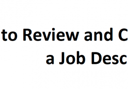 How to Review and Critique a Job Description