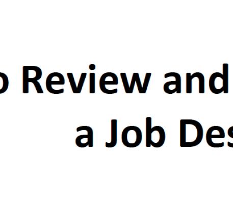 How to Review and Critique a Job Description